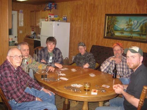 Deer Camp Poker Game